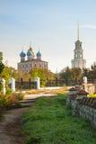 Ryazan Kremlin on autumn - ansamble of ortodox church Stock Photo