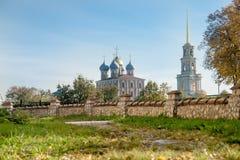 Ryazan Kremlin on autumn - ensemble of ortodox church Stock Images