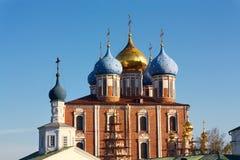 Ryazan Kremlin domes Stock Images
