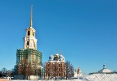 Ryazan Kremlin in winter Royalty Free Stock Photo