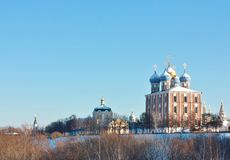 Ryazan Kremlin in winter Royalty Free Stock Image