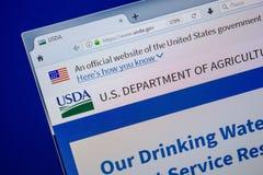 Ryazan, Rússia - 11 de julho de 2018: USDA Web site do gov na exposição do PC fotos de stock royalty free