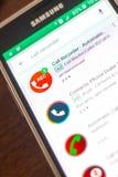 Ryazan Rosja, Maj, - 04, 2018: Automatycznego wezwania pisaka ikona w liście mobilni apps na pokazie telefon komórkowy Zdjęcia Stock