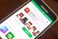 Ryazan Rosja, Maj, - 04, 2018: BBC wiadomości ikona w liście mobilni apps na pokazie telefon komórkowy Zdjęcia Royalty Free