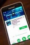 Ryazan Rosja, Maj, - 04, 2018: Gepard Klawiaturowa wisząca ozdoba app na pokazie telefon komórkowy Zdjęcia Royalty Free