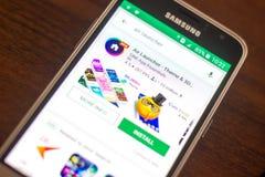 Ryazan Rosja, Maj, - 04, 2018: Lotnicza wyrzutni ikona w liście mobilni apps na pokazie telefon komórkowy Obrazy Stock
