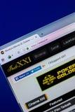 Ryazan, Rusia - 16 de abril de 2018 - homepage del sitio web de Indoxxi en la exhibición de la PC, URL - Indoxxi TV Foto de archivo libre de regalías