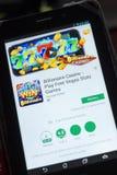 Ryazan, Rusia - 3 de julio de 2018: Casino del multimillonario - juegue a los juegos libres app móvil de las ranuras de Vegas en  fotografía de archivo