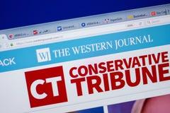 Ryazan, Rusia - 16 de junio de 2018: Homepage del sitio web de WesternJournal en la exhibición de la PC, URL - WesternJournal com Imagen de archivo libre de regalías