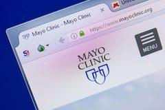 Ryazan, Rusia - 13 de mayo de 2018: Sitio web de Mayo Clinic en la exhibición de la PC, URL - MayoClinic org Fotos de archivo libres de regalías