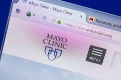 Ryazan, Rusia - 13 de mayo de 2018: Sitio web de Mayo Clinic en la exhibición de la PC, URL - MayoClinic org fotografía de archivo