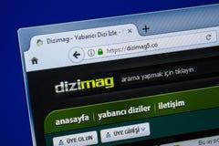 Ryazan, Rusland - Juli 25, 2018: Homepage van DiziMag5-website op de vertoning van PC Url - DiziMag5 Co royalty-vrije stock fotografie