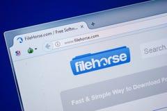 Ryazan, Rusland - Juli 25, 2018: Homepage van FileHorse-website op de vertoning van PC Url - FileHorse com royalty-vrije stock afbeeldingen