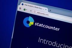 Ryazan, Rusland - Juli 25, 2018: Homepage van StatCounter-website op de vertoning van PC Url - StatCounter com stock foto's