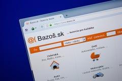 Ryazan, Rusland - Juni 26, 2018: Homepage van Bazos-website op de vertoning van PC URL - Bazos Sk royalty-vrije stock foto's
