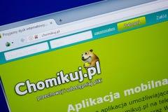Ryazan, Rusland - Juni 26, 2018: Homepage van Chomikuj-website op de vertoning van PC URL - Chomikuj pl royalty-vrije stock afbeelding