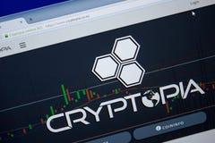 Ryazan, Rusland - Juni 26, 2018: Homepage van Cryptopia-website op de vertoning van PC URL - Cryptopia Co NZ royalty-vrije stock afbeeldingen