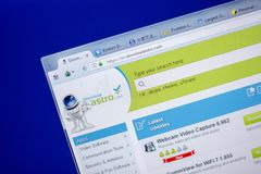 Ryazan, Rusland - Juni 05, 2018: Homepage van DownloadAstro-website op de vertoning van PC, url - DownloadAstro com stock afbeelding