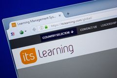 Ryazan, Rusland - Juni 26, 2018: Homepage van ItsLearning-website op de vertoning van PC URL - ItsLearning com stock afbeeldingen