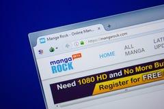 Ryazan, Rusland - Juni 26, 2018: Homepage van MangaRock-website op de vertoning van PC URL - MangaRock com royalty-vrije stock foto