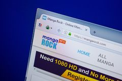 Ryazan, Rusland - Juni 26, 2018: Homepage van MangaRock-website op de vertoning van PC URL - MangaRock com royalty-vrije stock foto's