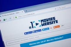 Ryazan, Rusland - Juni 26, 2018: Homepage van 1Movies-website op de vertoning van PC URL - 1Movies Se stock afbeeldingen