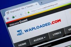 Ryazan, Rusland - Juni 26, 2018: Homepage van Waploaded-website op de vertoning van PC URL - Waploaded com stock foto's