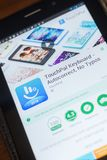 Ryazan, Rusland - Mei 16, 2018: TouchPaltoetsenbord mobiele app op de vertoning van tabletpc Royalty-vrije Stock Fotografie