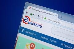 Ryazan, Rusland - September 09, 2018: Homepage van Exist website op de vertoning van PC, url - Existru royalty-vrije stock afbeelding