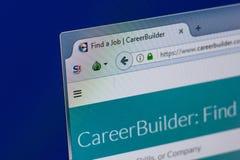 Ryazan, Russia - April 16, 2018 - Homepage of Career Builder website on the PC display, url - careerbuilder.com. stock image