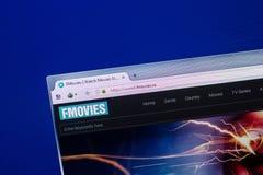 Ryazan, Russia - April 29, 2018: Homepage of FMovies website on the display of PC, url - FMovies.se. Ryazan, Russia - April 29, 2018: Homepage of FMovies royalty free stock photos