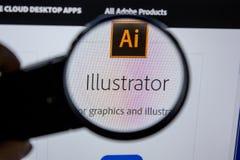 Ryazan, Russia - July 11, 2018: Adobe Illustrator, software logo on the official website of Adobe. Ryazan, Russia - July 11, 2018: Adobe Illustrator, software royalty free stock images