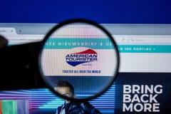 Ryazan, Russia - July 11, 2018: AmericanTourister.nl website on the display of PC. Ryazan, Russia - July 11, 2018: AmericanTourister.nl website on the display stock photography