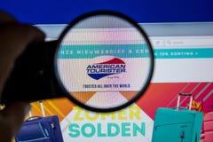 Ryazan, Russia - July 11, 2018: AmericanTourister.nl website on the display of PC. Ryazan, Russia - July 11, 2018: AmericanTourister.nl website on the display royalty free stock photos
