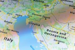 Croatia on political globe stock illustration. Illustration of ...