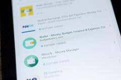Ryazan, Russia - July 03, 2018: Wallet - Money, Budget, Finance icon in the list of mobile apps. Ryazan, Russia - July 03, 2018: Wallet - Money, Budget, Finance stock photography