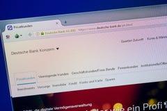 Ryazan, Russia - June 26, 2018: Homepage of Deutsche-Bank website on the display of PC. URL - Deutsche-Bank.de. Ryazan, Russia - June 26, 2018: Homepage of stock image
