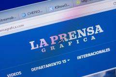 Ryazan, Russia - June 16, 2018: Homepage of LaPrensaGrafica website on the display of PC, url - LaPrensaGrafica.com. Ryazan, Russia - June 16, 2018: Homepage of stock image