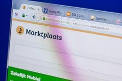 Ryazan, Russia - June 16, 2018: Homepage of Marktplaats website on the display of PC, url - Marktplaats.nl. Ryazan, Russia - June 16, 2018: Homepage of royalty free stock photo