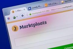 Ryazan, Russia - June 16, 2018: Homepage of Marktplaats website on the display of PC, url - Marktplaats.nl. Ryazan, Russia - June 16, 2018: Homepage of royalty free stock images