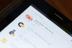 Ryazan, Russia - June 24, 2018: Inbox Dollars - Make Money icon on the list of mobile apps. Ryazan, Russia - June 24, 2018: Inbox Dollars - Make Money icon on royalty free stock photos