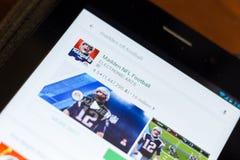 Ryazan, Russia - June 24, 2018: Madden NFL Football icon on the list of mobile apps. Ryazan, Russia - June 24, 2018: Madden NFL Football icon on the list of royalty free stock photo