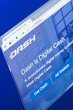 Ryazan, Russia - March 29, 2018 - Homepage of Dash cryptocurrency on PC display, web adress - dash.org. Ryazan, Russia - March 29, 2018 - Homepage of Dash Stock Image