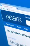 Ryazan, Russia - March 28, 2018 - Homepage of Sears website on the display of PC, web address - sears.com.  stock photos