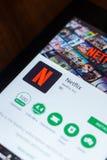 Ryazan, Russia - March 21, 2018 - Netflix mobile app on the display of tablet PC. Ryazan, Russia - March 21, 2018 - Netflix mobile app on the display of tablet stock photo