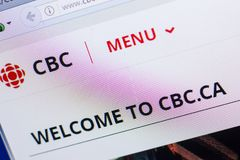 Ryazan, Russia - May 13, 2018: Cbc website on the display of PC, url - Cbc.ca. Ryazan, Russia - May 13, 2018: Cbc website on the display of PC, url - Cbc.ca royalty free stock image