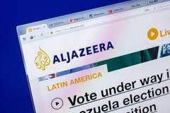 Ryazan, Russia - May 20, 2018: Homepage of Aljazeera website on the display of PC, url - Aljazeera.com. Ryazan, Russia - May 20, 2018: Homepage of Aljazeera stock images
