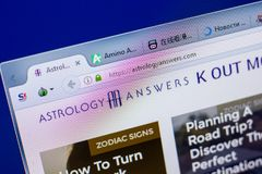 Online Astrology Site Template On Smartphone With Blank Screen Stock