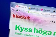 Ryazan, Russia - May 27, 2018: Homepage of Blocket website on the display of PC, url - Blocket.se. Ryazan, Russia - May 27, 2018: Homepage of Blocket website on royalty free stock photo