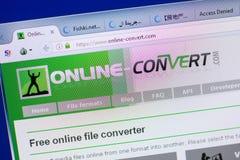 Ryazan, Russia - May 13, 2018: Online-convert website on the display of PC, url - Online-convert.com. Ryazan, Russia - May 13, 2018: Online-convert website on stock photography